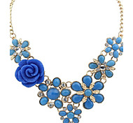 Women's Statement Necklaces Alloy Fashion Dark Blue Blue Pink Assorted Color Jewelry Wedding Party Daily Casual 1pc