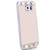 Luxury Diamond Mirror Case For Samsung Galaxy S6 G9200 Handmade Rhinestone Crystal Soft TPU Frame Cover S3/S4/S5/S6/S6E