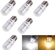 Недорогие -3 Вт. 3000/6000 lm E14 E26/E27 LED лампы типа Корн T 24 светодиоды SMD 5730 Декоративная Тёплый белый Холодный белый AC 110-130 В AC
