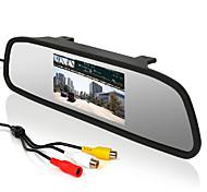 """abordables -4.3 """"monitor del coche Espejo retrovisor con pantalla LCD + 170 ° gran angular revertir cámara de aparcamiento"""