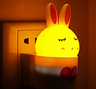 Creative Warm White Rabbit Light Sensor Sound Induction Relating to Baby Sleep Night Light(Assorted Color)
