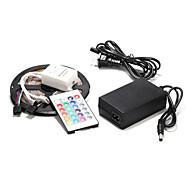 60 5m × 2835smd RGB-LED wasserdichte Streifenlicht und 24key Fernbedienung und 12V-Netzteil