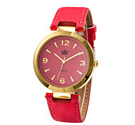 Women's White Case Leather Band Analog Wrist Watch Jewelry Cool Watches Unique Watches