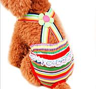 Недорогие -Кошка Собака Брюки Одежда для собак В полоску Радужный Хлопок Костюм Для домашних животных Косплей Свадьба