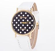 Недорогие -Жен. Модные часы Кварцевый Кожа Группа В точечку Черный Синий Оранжевый Коричневый Розовый Фиолетовый Роуз