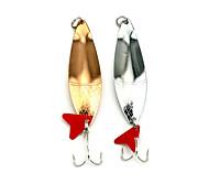 """5 pcs Cebos Cebo metálico Cucharas Colores Aleatorios g/Onza,85mm mm/3-5/16"""" pulgada,Pluma MetalPesca de Mar Pesca de agua dulce Otros"""