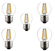 cheap -5pcs 400LM lm E26/E27 LED Filament Bulbs G45 4 leds High Power LED Decorative Warm White Cold White AC 220-240V
