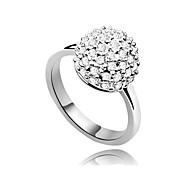 Недорогие -Женский Массивные кольца Регулируется бижутерия Серебрянное покрытие Бижутерия Назначение Для вечеринок