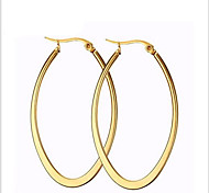 Women's Hoop Earrings Fashion Costume Jewelry Titanium Steel 18K gold Circle Oval Jewelry For Party Daily Casual