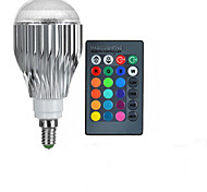 10W E14 LED Globe Bulbs A50 1 High Power LED 600-800 lm RGB 2000-3500 K Remote-Controlled AC 85-265 V