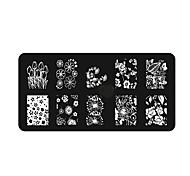 cheap -1pcs Nail Stamping Tool Nail Stamping Template Nail Art Design Daily Chic & Modern Fashion High Quality