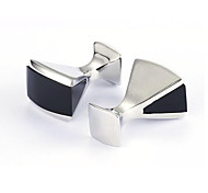 Men's Fashion Black Face Alloy French Shirt Cufflinks (1-Pair)