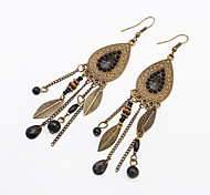 cheap -Women's Drop Earrings - Resin Leaf Vintage, European, Fashion Red / Blue / Rainbow For Party / Daily / Casual