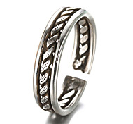 cheap -Men's Sterling Silver / Silver Band Ring - Vintage / Party / Fashion Silver Ring For Daily / Casual
