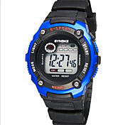 SYNOKE Kids' Sport Watch Wrist watch Digital LCD Calendar Chronograph Water Resistant / Water Proof Alarm Luminous Rubber Band Black