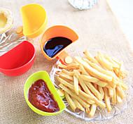 cheap -4Pcs Can Clip Dishes Spoon Plates Condiment Spoon Random color