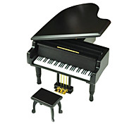 Music Box Toys Piano Wood Metal Pieces Gift