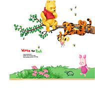 Недорогие -Животные Натюрморт Мода Цветы ботанический Мультипликация Отдых Наклейки Простые наклейки Наклейки на холодильник, ПВХ Украшение дома