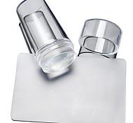 baratos -2 pcs Placa de Carimbar / Ferramentas Modelo Estiloso / Redondo / Forma Quadrada Nail Art Design Design Moderno