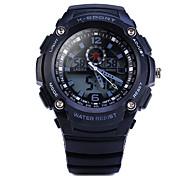 cheap -Men's Sport Watch Quartz Alarm Calendar / date / day Chronograph Water Resistant / Water Proof LED Noctilucent Dual Time Zones Luminous PU