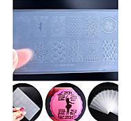 новый инженерно-пластические искусства ногтя штамповки пластины окружающей среды поделки лак для ногтей инструменты проектирования