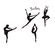 DIY Removable Black Ballet Dance Wall Stickers Classroom Wall Art Wall Decals