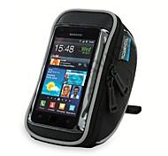 ROSWHEEL Bike Handlebar Bag Cell Phone Bag 5.5 inch Waterproof Zipper Wearable Moistureproof Shockproof Touch Screen Cycling for Iphone 8
