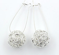 cheap -Women's Silver Plated - Fashion / European Silver Circle Earrings For Wedding / Party / Daily