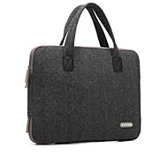 "Handbag for Macbook Air 13.3"" MacBook Pro 13"" with Retina display Solid Color Textile Material Woolen British Style Laptop Bag Notebook Computer Bags"