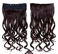 Недорогие -клип в синтетических 1шт 24inch 60см волос женщины большие волны длинные вьющиеся волосы # расширения 33 цвет синтетические волосы ткет