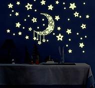 Пейзаж Наклейки Простые наклейки / Светящиеся наклейки Декоративные наклейки на стены,PVC материал Съемная Украшение домаНаклейка на