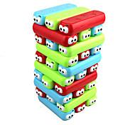 Недорогие -Настольные игры Игры с блоками Деревянные блоки Пирамида Игрушки Цветной Баланс Квадратный Магнитный пластилин Классика Новый дизайн 30