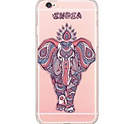 Red Elephant Pattern Soft Ultra-thin TPU Back Cover For iPhone 6 Plus/6s/6/5s/5