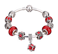 Women's New European Style Fashion Simple Heart Wings Charm Bracelet #YMGP1007 Christmas Gifts