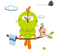 Creative DIY Cartoon Big Bird Wall Clock With Wall Stickers Children's Bedroom Home Decor