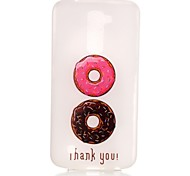 Macaroon Doughnut Pattern Pattern Relief Glow in the Dark TPU Phone Case for LG K10/K8/K7/K5