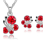 Women's Jewelry Set Necklace/Earrings Casual Fashion Daily Casual Crystal Butterfly Animal Earrings Necklaces