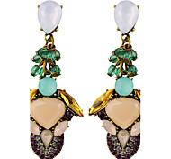 cheap -Hot Vintage Fashion Jewelry Ethnic Style Retro Crystal Drop Earrings Bohemian Earrings For Women Indian Chandelier Earrings Accessories