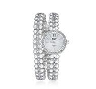 2016 Jewelora Pearl Luxury Noble Cubic Zircon Silver Quartz Women Party Watches Fashion Watch