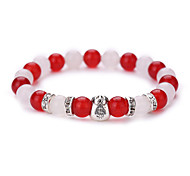 cheap -New Arrival Natural White Marble Agate Jewelry Fashion Have Dollars Beads Bracelet  #YMGS1031