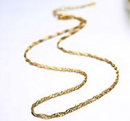 Ожерелье Ожерелья-цепочки Бижутерия Повседневные Модно Медь Золотой 1шт Подарок