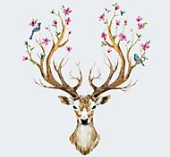 Недорогие -Животные Наклейки Простые наклейки Декоративные наклейки на стены,PVC материал Съемная Украшение дома Наклейка на стену