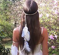Недорогие -мода богемы перо деревянные бусины женские повязки 1 шт