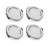 5W Luces LED Descendentes 480 lm Blanco Cálido / Blanco Fresco SMD 5730 Regulable AC 100-240 V 4 piezas