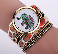 cheap -Women's Wrist watch Bracelet Watch Fashion Watch Quartz / Hot Sale Fabric Band Bohemian Cool Black White Blue Red Pink Purple