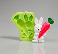 Недорогие -Пасхальный кролик морковь силиконовый пресс-помада торт украшение инструменты для шоколада кекс цвет случайный