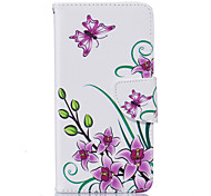 Pink Butterfly Pattern Card Phone Holster for LG K7/K8/K10 Cases / Covers for LG
