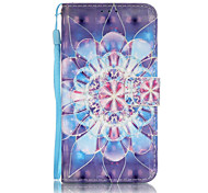 3D Painted Blue Full Flower Pattern PU Material Phone Case for Galaxy J3/J310/J5/J510/G360/G530