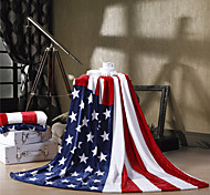 "The American Flag USA Super Soft Flannel Blanket  W59""×L79"""
