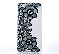 TPU Material Black Chrysanthemum Pattern Cellphone Case for Huawei P9Lite/P9/P8Lite